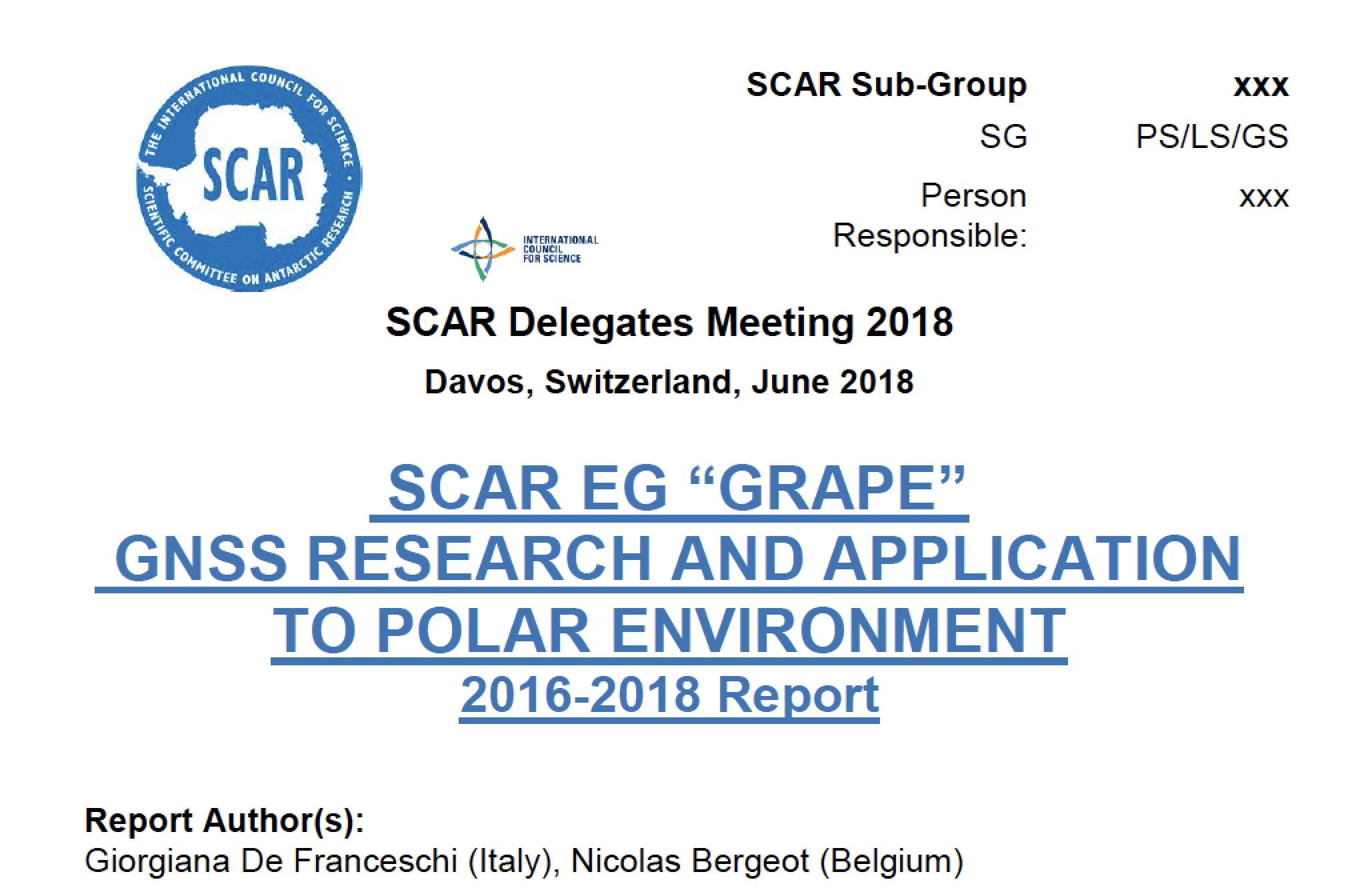 GRAPE-GS annual Report 2018