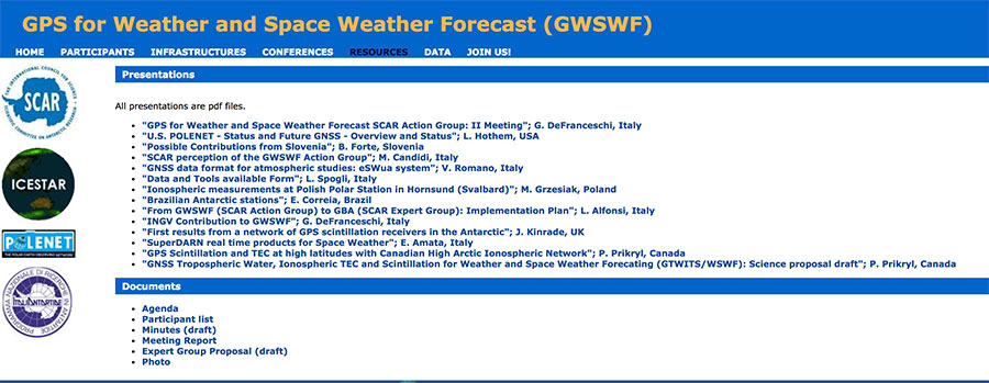 Second GWSWF meeting